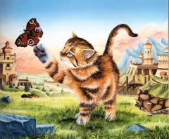 Vercruyce,chat,peinture,majesté