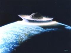 astéroide,chute,choc,Terre